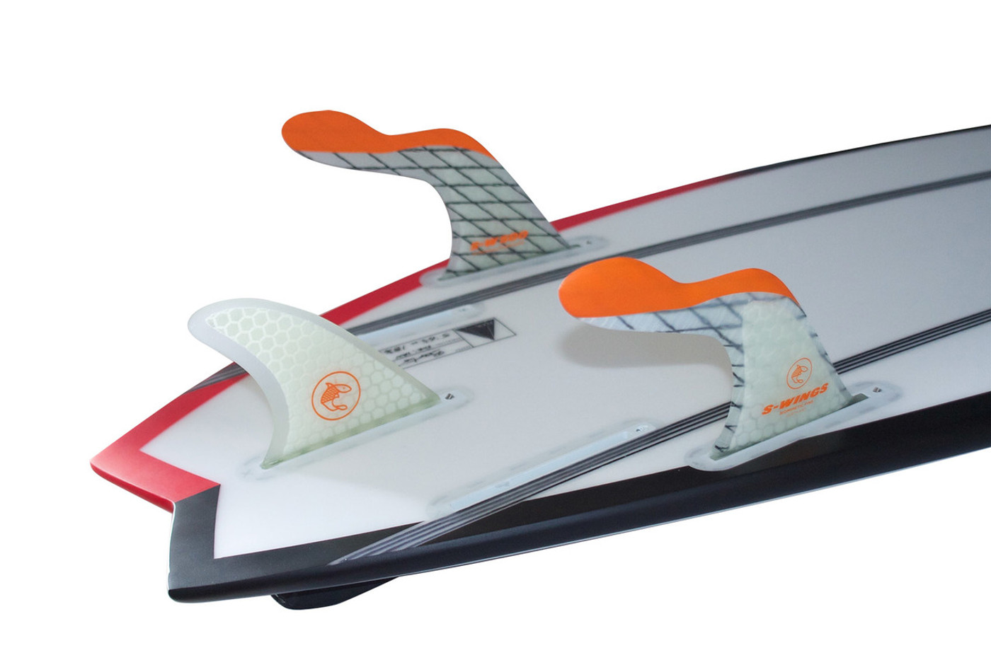 S Wings SW 500 Orange Thruster Fins For FCS Boxes - also works great with quads and as a 5 fin.