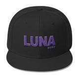 Luna Text Purple Wool Blend Snapback