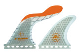 S Wings SW 500 Orange Thruster Fins For FCS Boxes