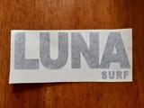 Luna surf text logo for boards. 20cm long.