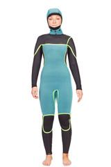 Lunasurf Womens 5.4mm Hooded Slant Zip Yamamoto Wetsuit