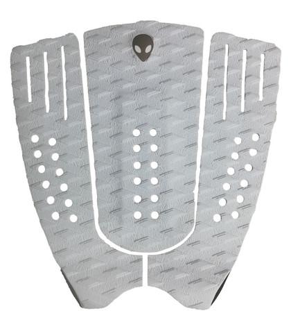 3 piece double diamond tail pad white