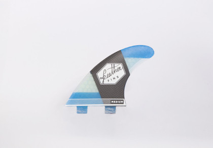 Feather fins Carbon Flex thruster fins Large in Blue