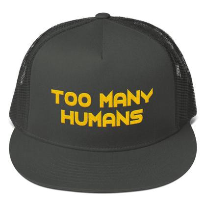 Too Many Humans Gold Mesh Back Snapback