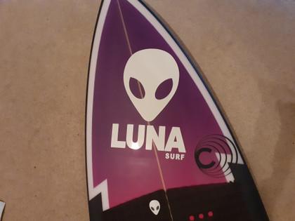 Luna surf sticker