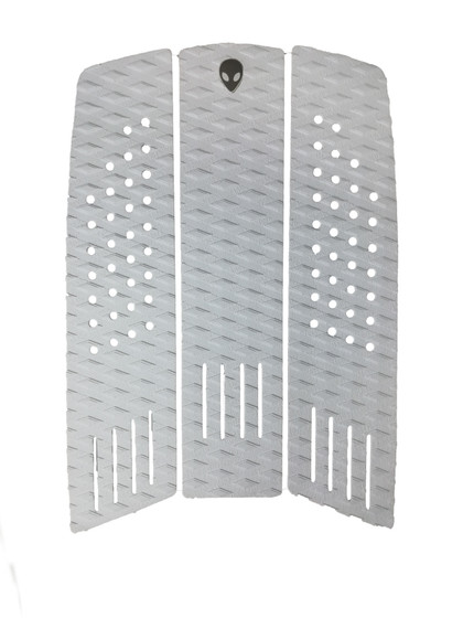 3 piece front foot pad double diamond groove white