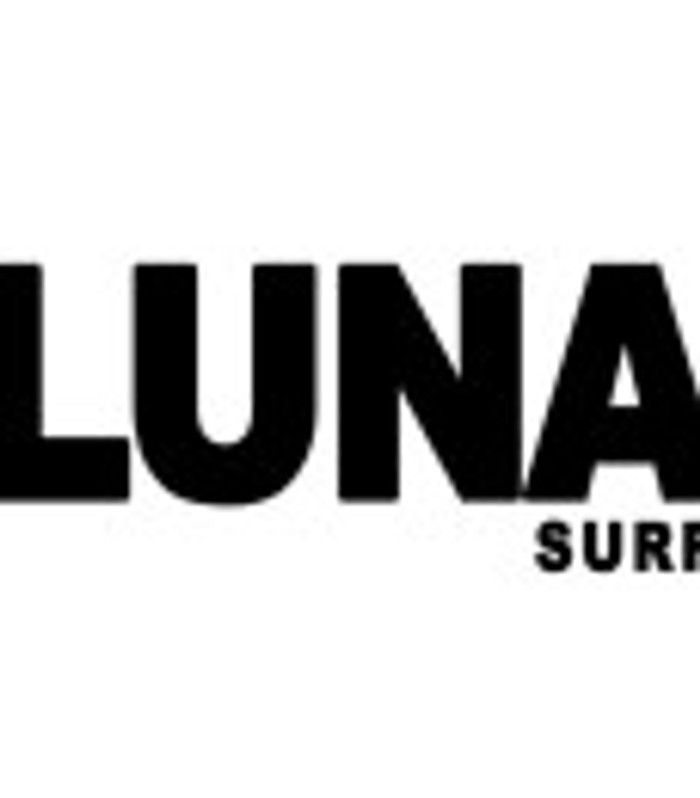 Lunasurf text logo sticker