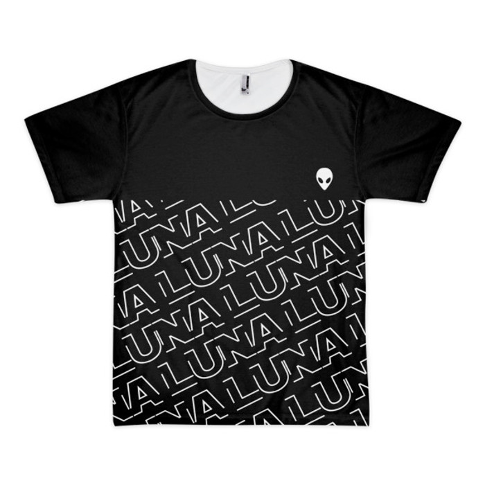 Luna Repeat Short sleeve men's t-shirt (unisex)