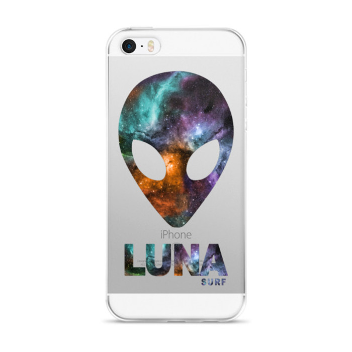 Luna Cosmic Alien Logo iPhone case