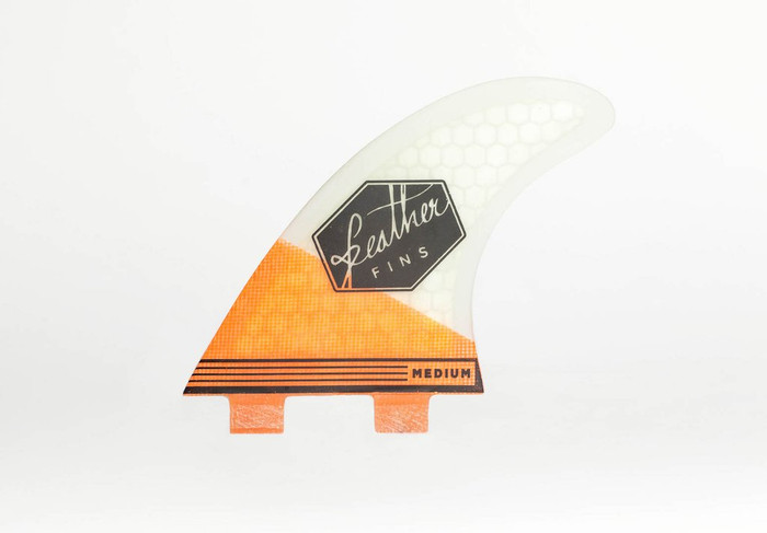 Feather Fins Thruster Medium Orange White FCS