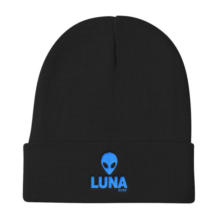 Alien Blue Knit Beanie