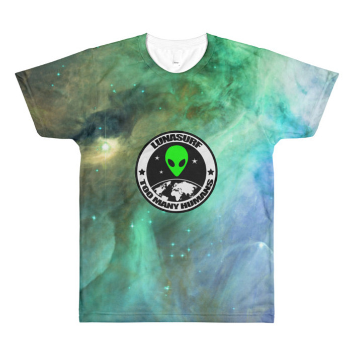 men's Nebula Too Many Humans crewneck t-shirt
