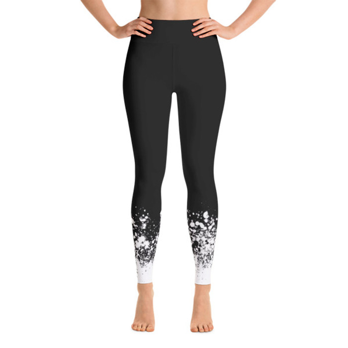 Luna Speckle Yoga Leggings Black