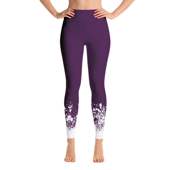 Luna Speckle Yoga Leggings Purple