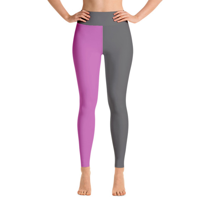 Lunasurf Yoga Leggings Pink Grey