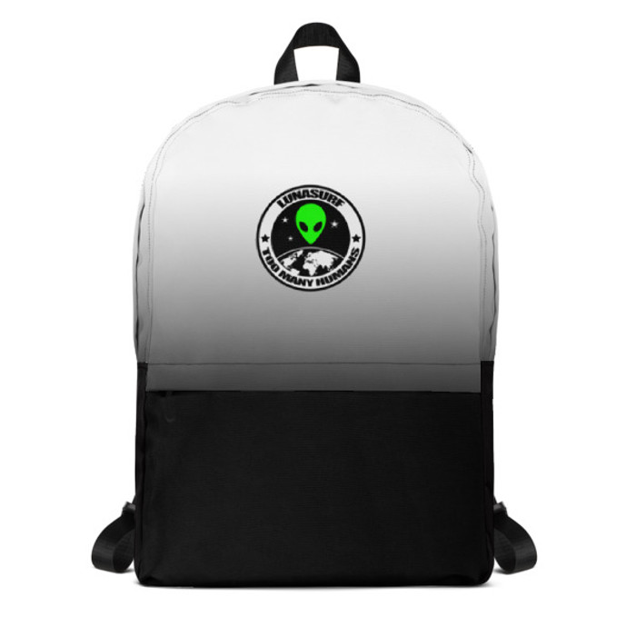 Lunasurf Too Many Humans Logo Backpack