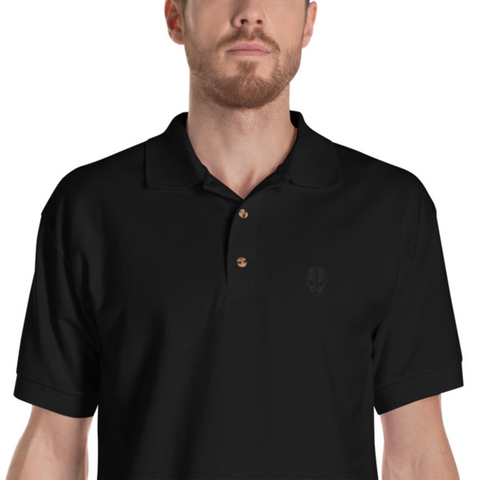 Lunasurf Alien logo Polo Shirt