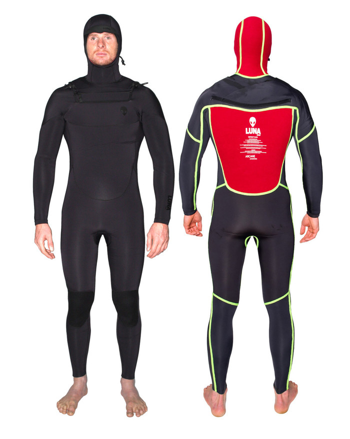 6.4mm hooded wetsuit