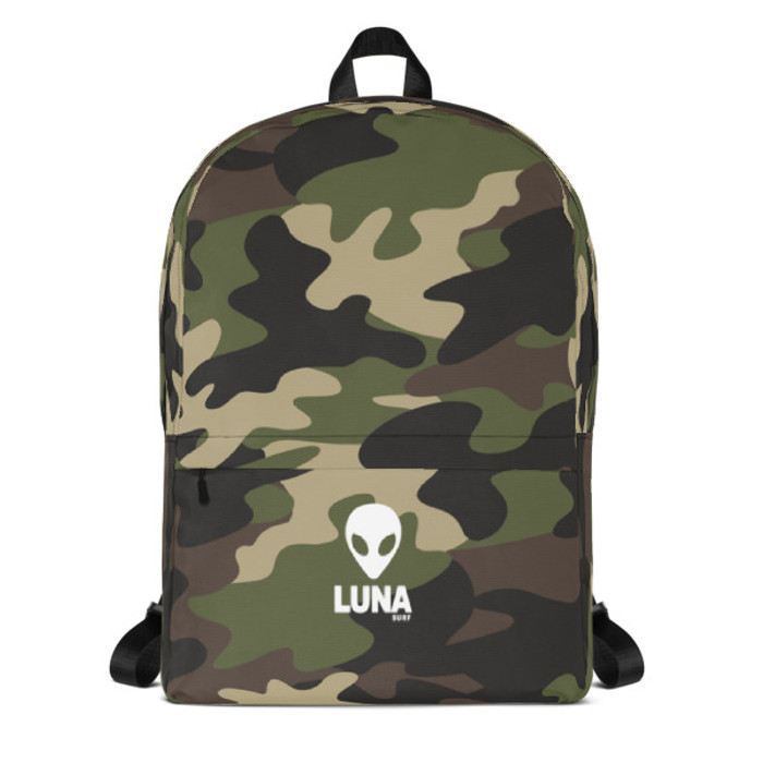 Lunasurf Woodland Camo Backpack