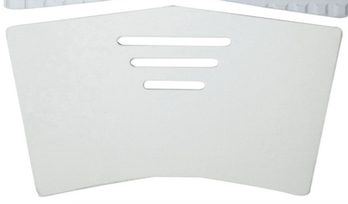 White mid piece pad.