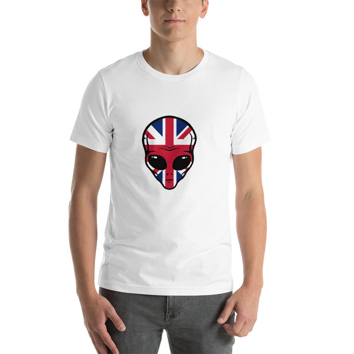 Luna Union Jack logo Short-Sleeve Unisex T-Shirt