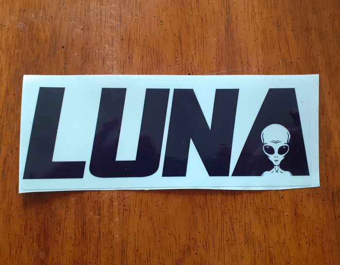 Alien in LUNA text logo