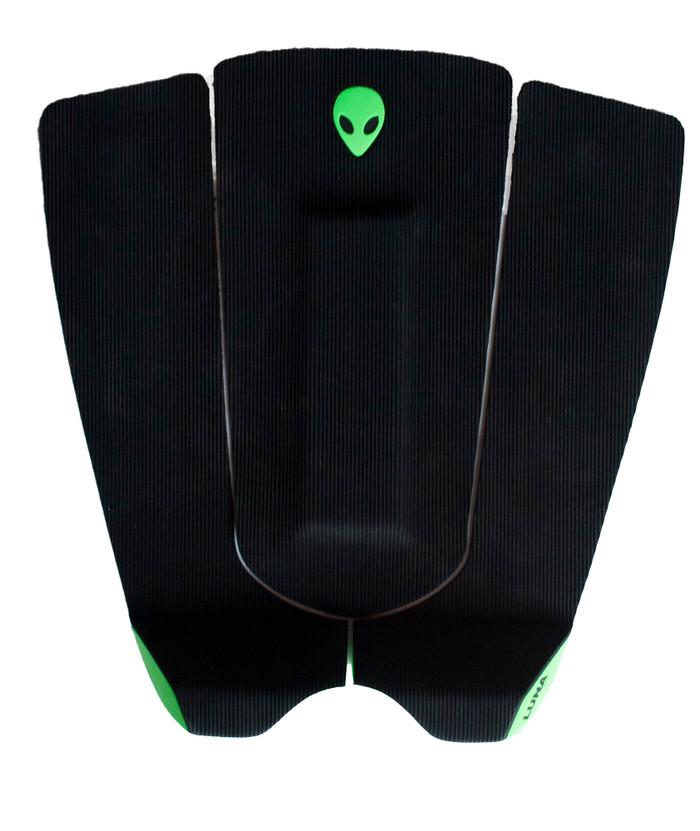 LUNASURF Corduroy Groove 3 Piece Tail Pad Black