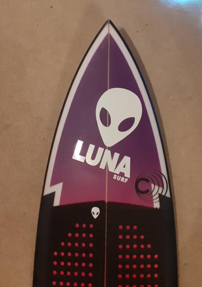 White Luna Alien Logo Sticker