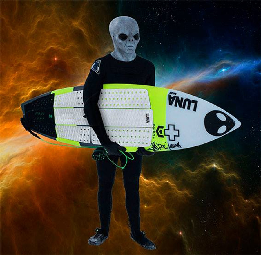 Sfath - Lunasurf full deck grip - Alien 6 piece white front foot traction and 3 piece tailpad.