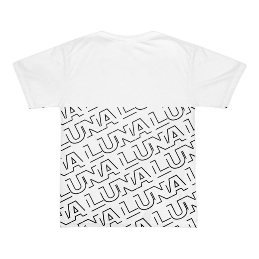 Luna Repeat White Short sleeve men's t-shirt (unisex)