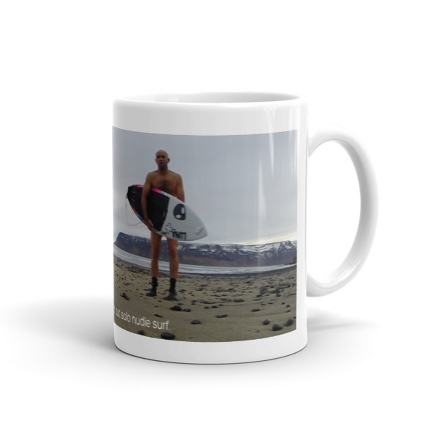 Batty Icelandic Winter Nudie Surf Mug