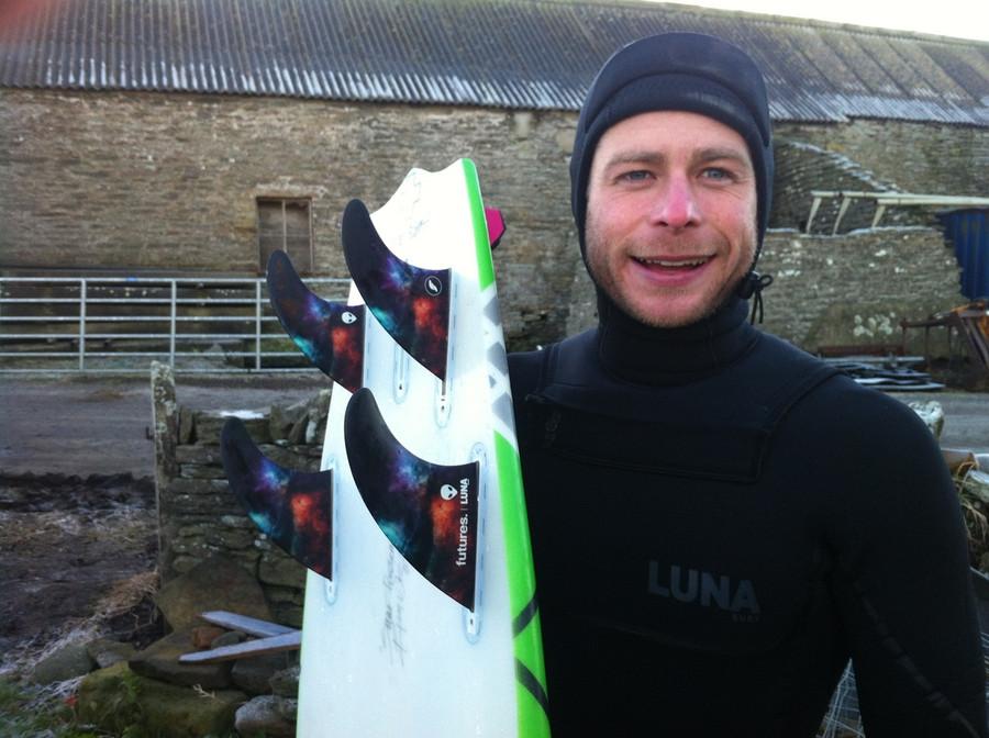 Alex Sutherland riding the Lunasurf Quad set up - Scotland.