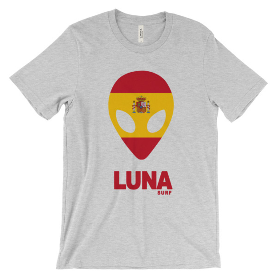 Lunasurf Spain Flag Logo Tee.