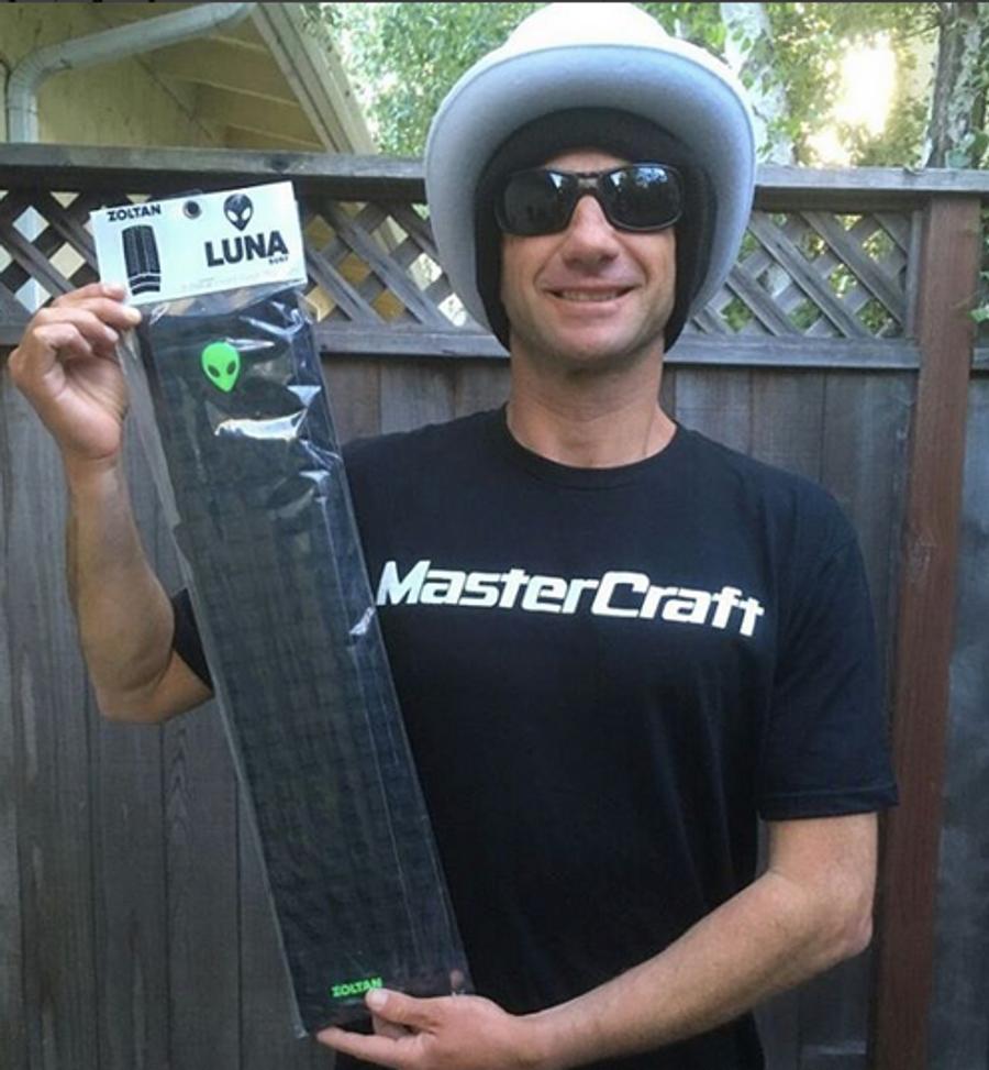 Zoltan 'the magician' Torkos with his signature front pad - Santa Cruz, California