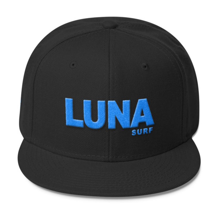 Luna Logo Electric Blue Wool Blend Snapback