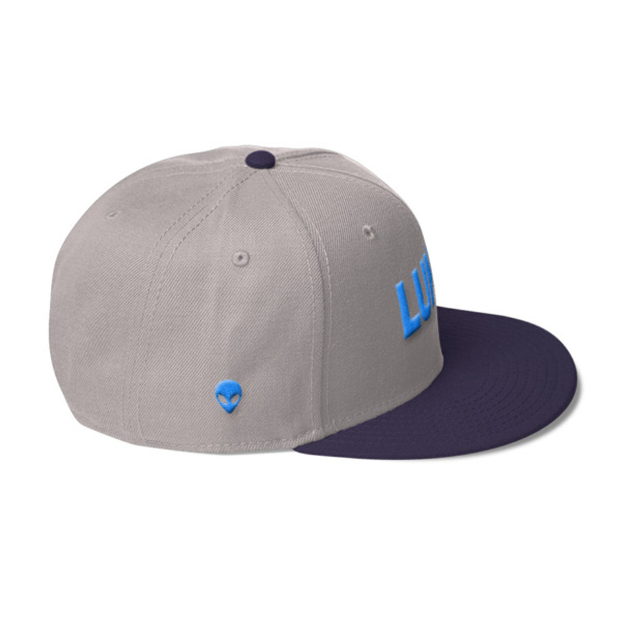 Luna Logo Electric Blue Wool Blend Snapback