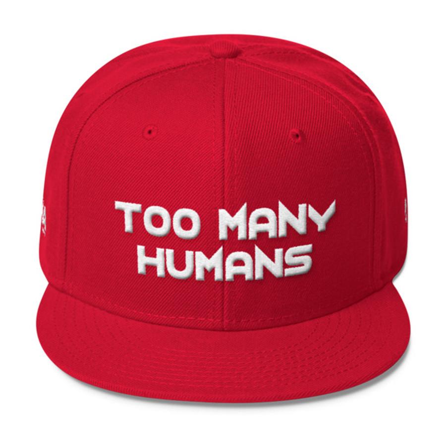 Too Many Humans White Logo Wool Blend Snapback