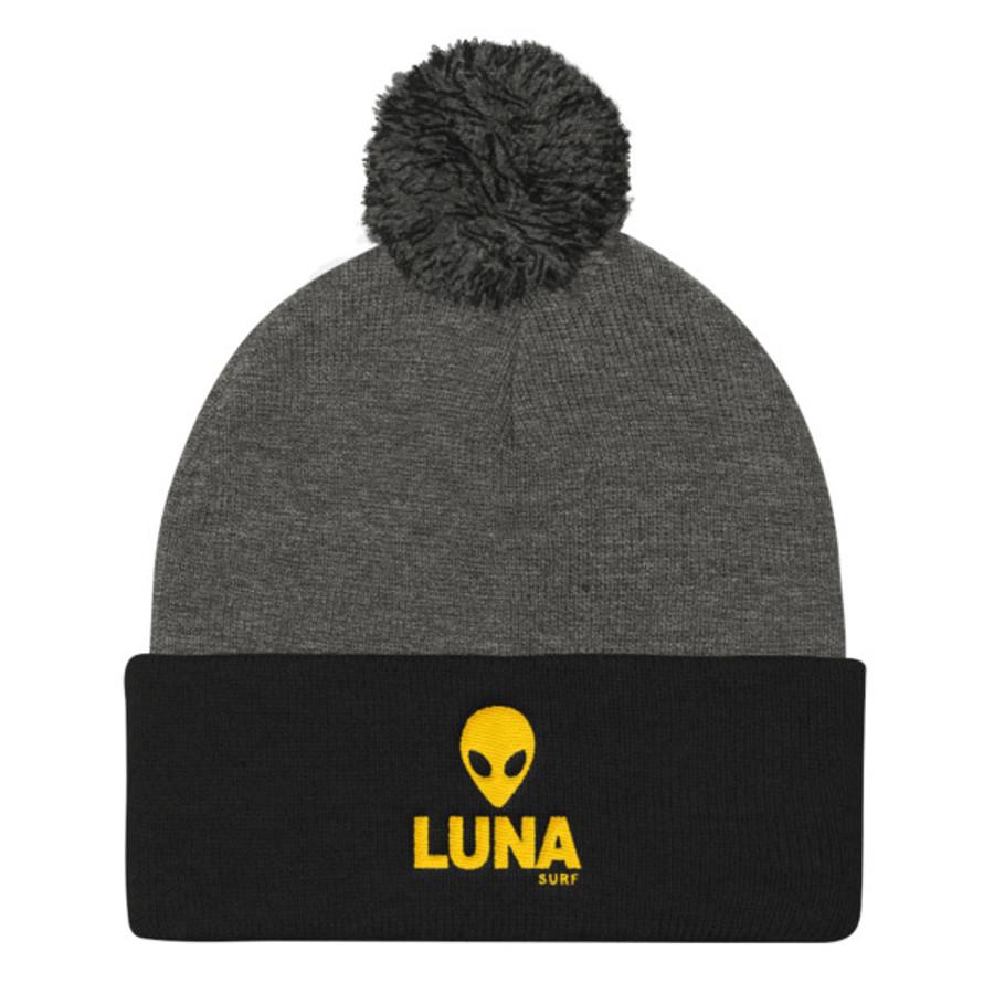 Alien Yellow Pom Pom Knit Cap