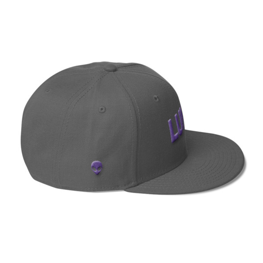 Luna Text Purple Wool Blend Snapback