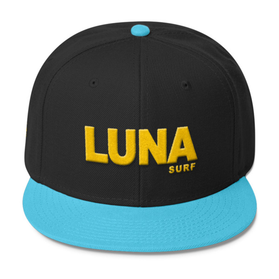 Luna Text Gold Wool Blend Snapback