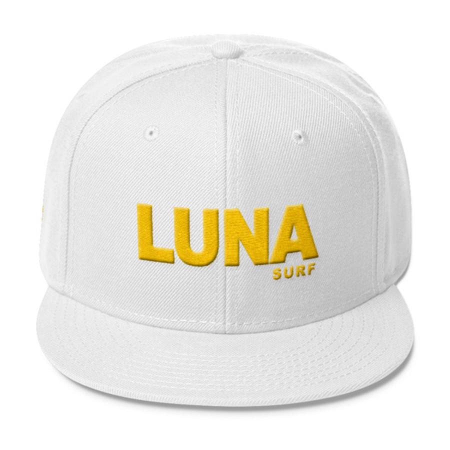 Luna Text Gold Wool Blend Snapback