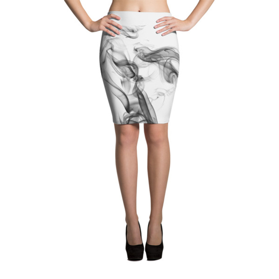 Lunasurf Smoke White Pencil Skirt