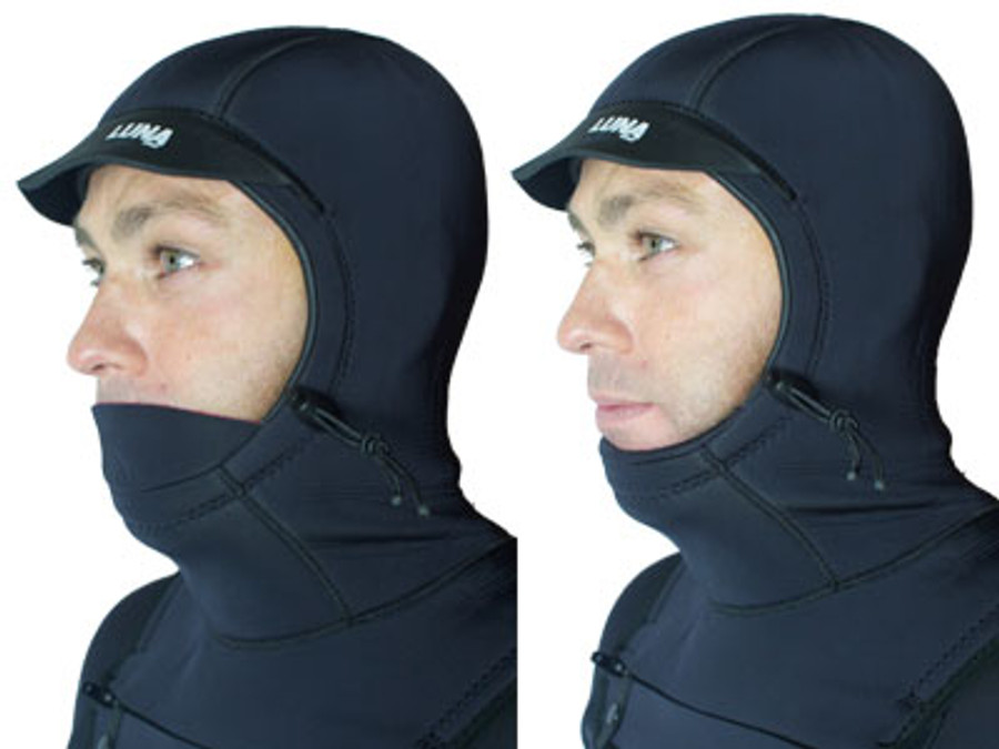 Thermal lip warmer -  can just as comfortably be worn up or down..