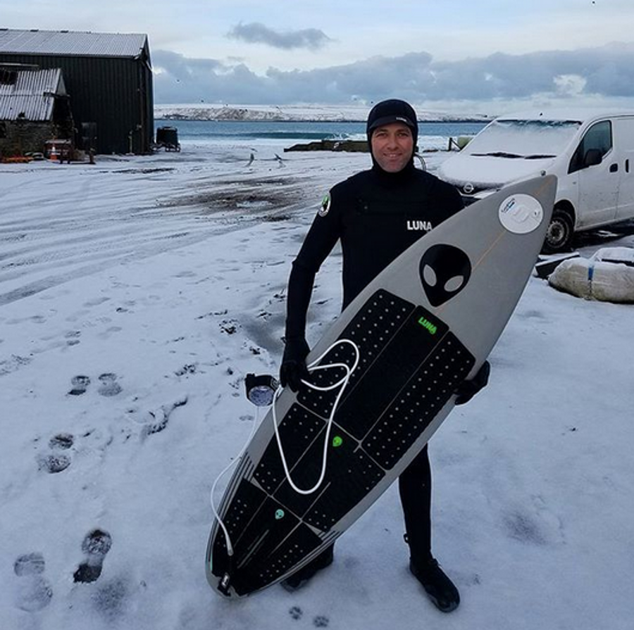 Ian Battrick Lunasurf 6.4mm hooded wetsuit - Scotland.