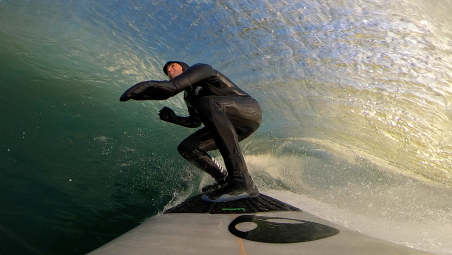 6.4mm hooded Lunasurf ultimate cold water wetsuit