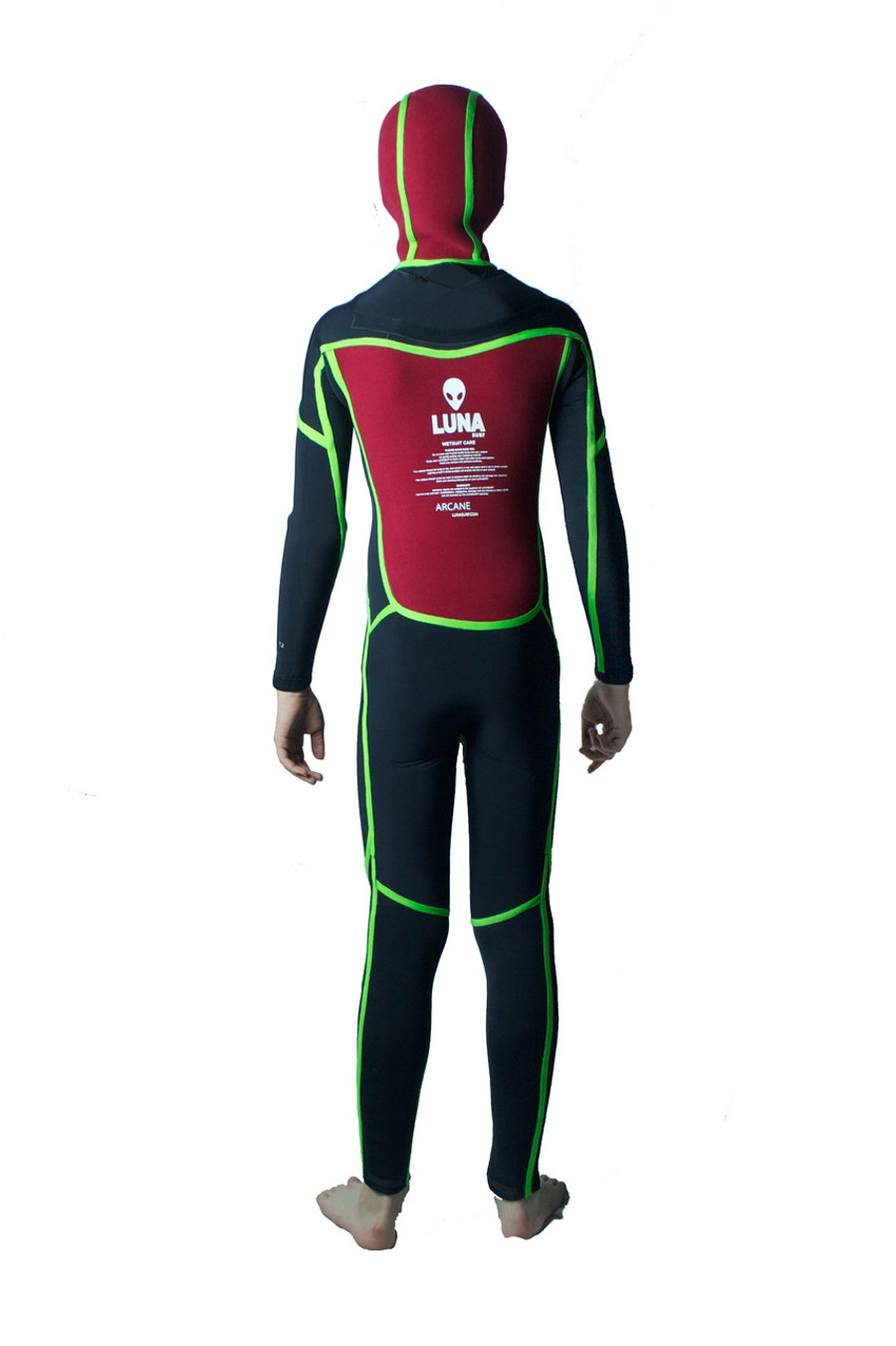 Inside out - Childrens Japanese Yamamoto wetsuit - Thermal chest, back, hood.