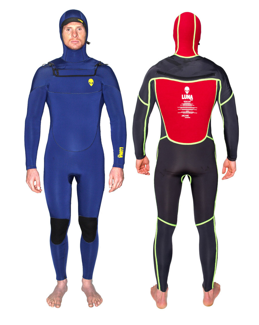 6.4mm hooded wetsuit ink blue