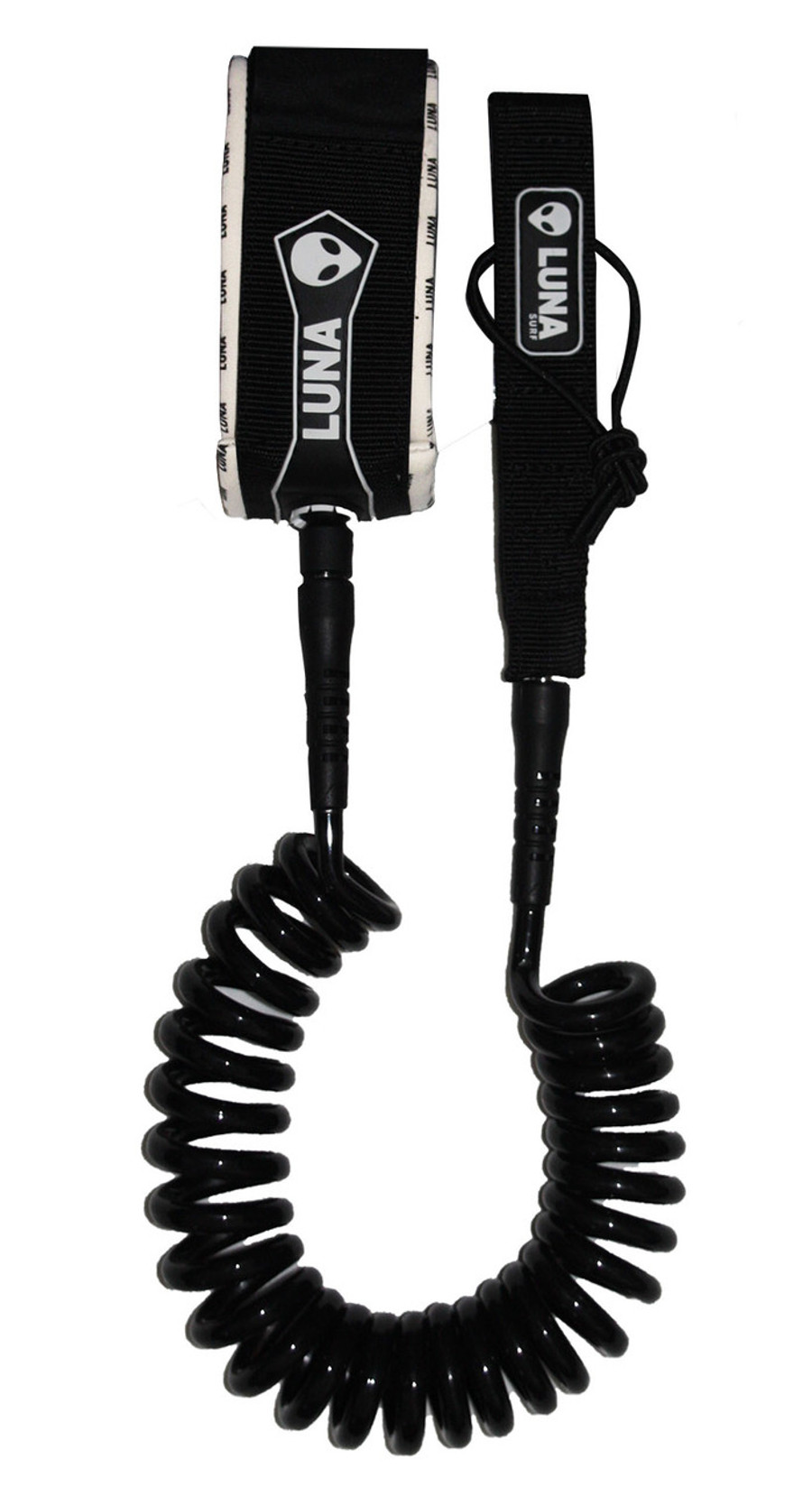 Luna Coiled SUP leash 10ft Black