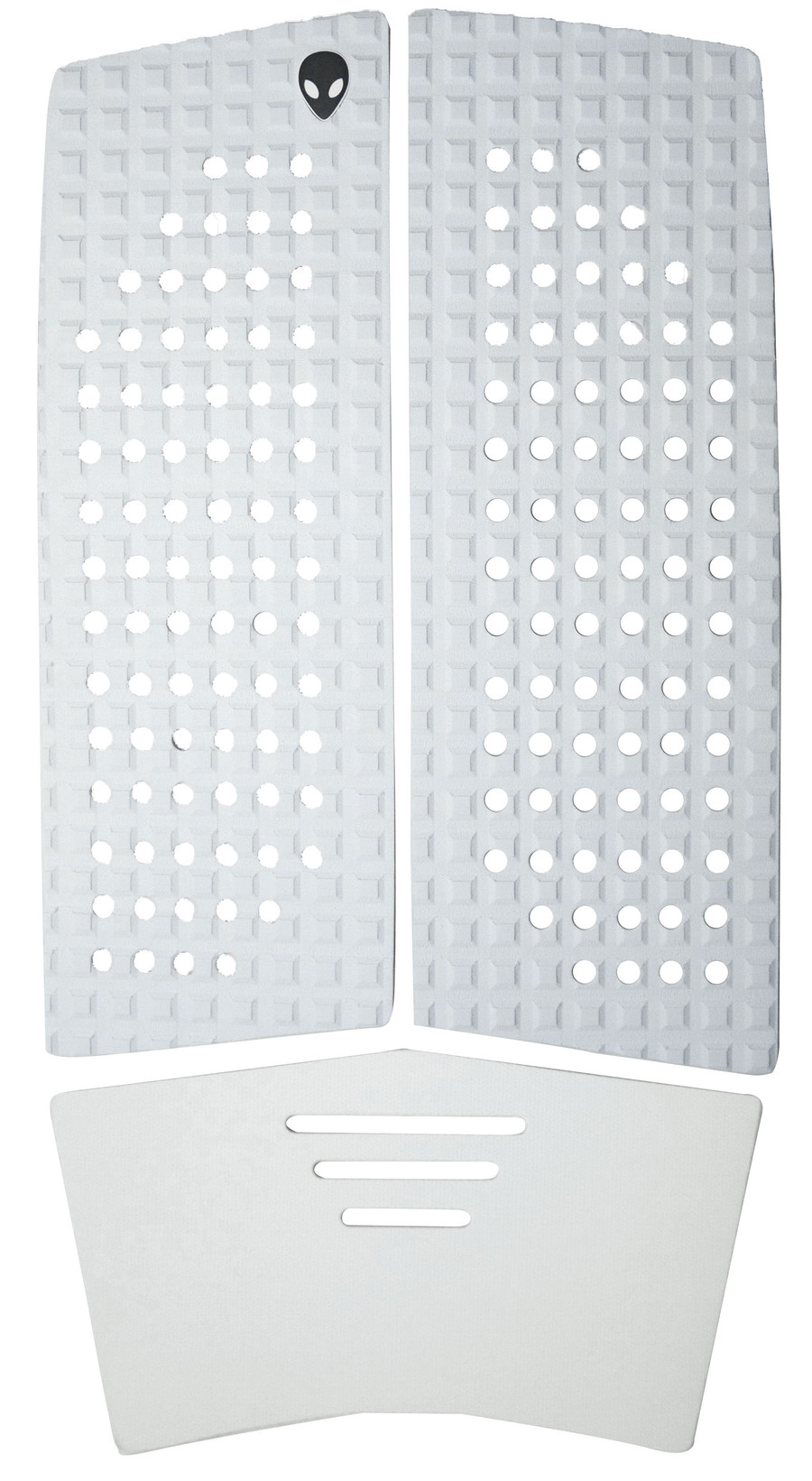 3 piece white front foot traction