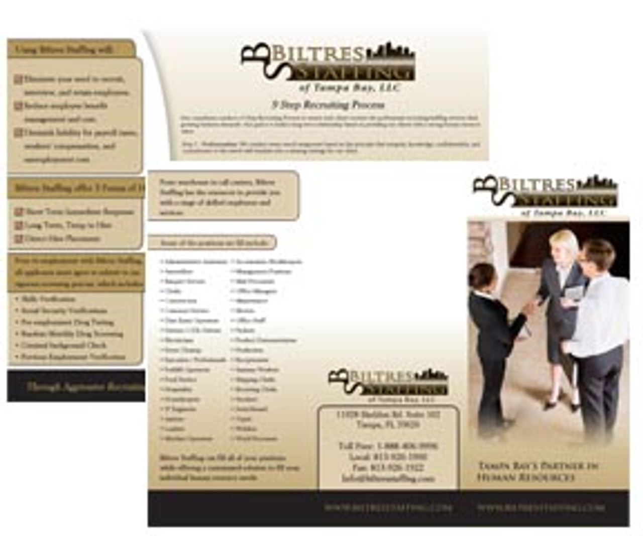 "BFC814   8.5"" x 14"" Full Color Brochures"